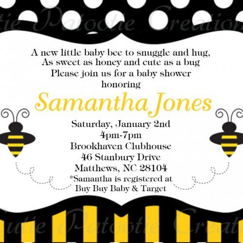 Bee Baby Showers, Bee Theme, Bee Party, April Showers, Bumble Bees, Baby  Shower Invitations, Life Skills, Popcorn, Little Ones