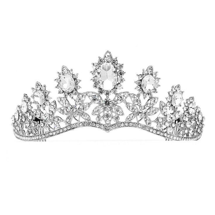 Royal Wedding Tiara with Dramatic Curve
