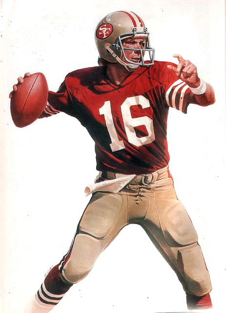 Joe Montana, SF 49'ers by Chuck Ren.