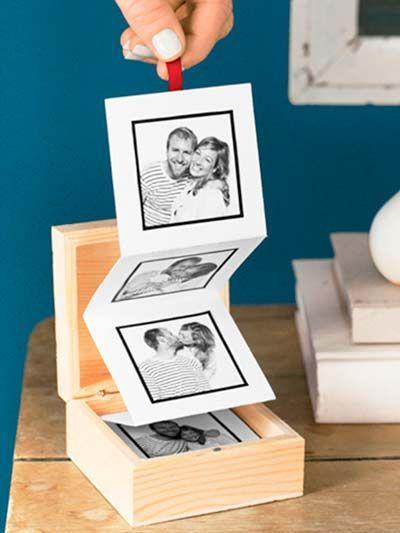 Una caja de madera con vuestras fotos para regalar en San Valentín