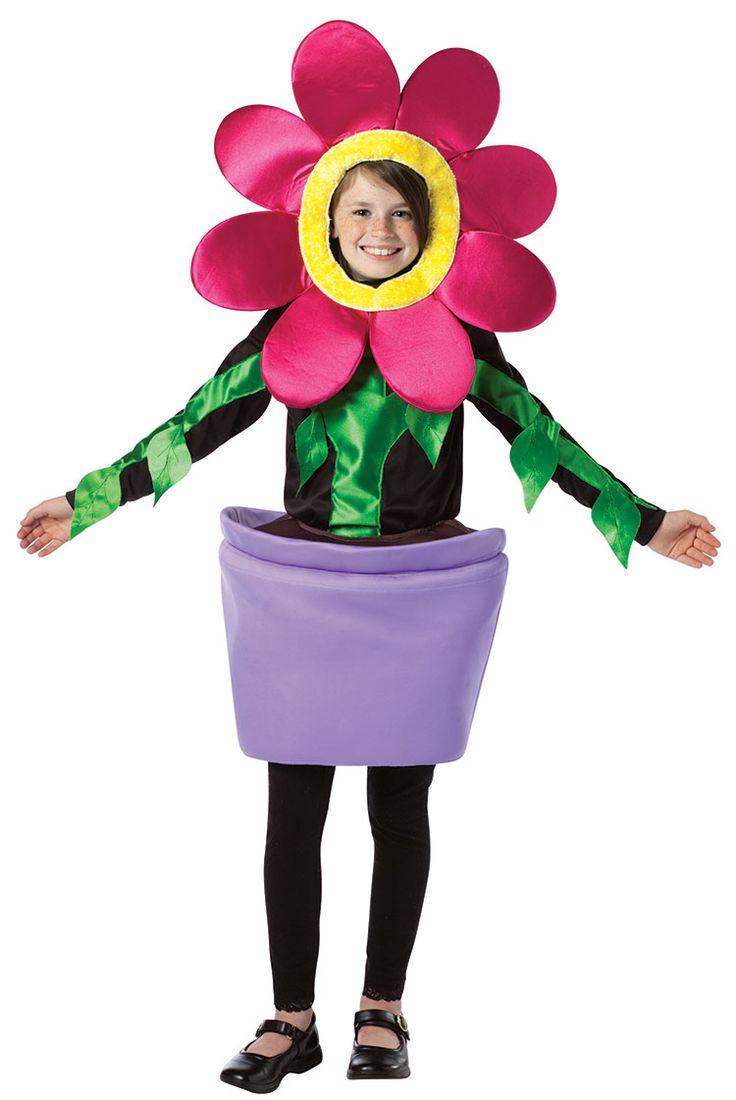 flower halloween hat costume    Girls Flower Pot Costume - Flower Costumes