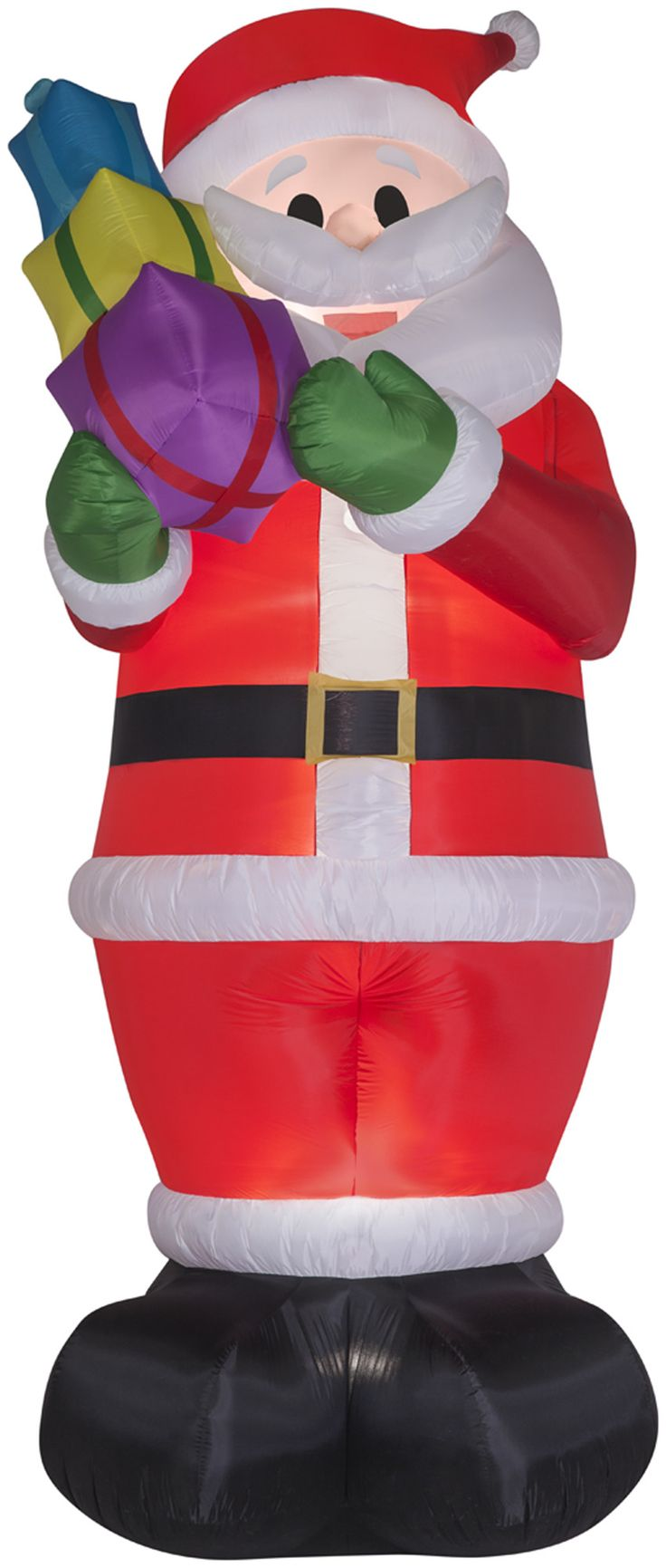 Gemmy inflatable airblown reindeer outdoor christmas decoration lowe - Airblown Inflatables Christmas Colossal Santa With Gifts Decoration