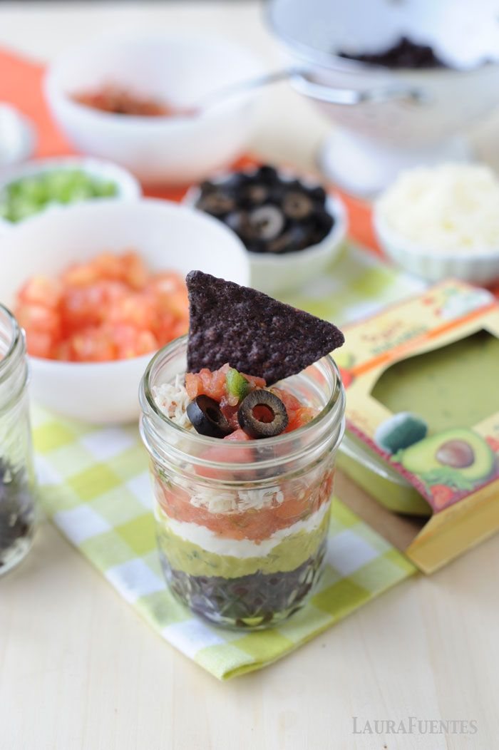 single serve 7 layer mexican dip cups! Perfect thing to make with leftovers from Taco Tuesday!