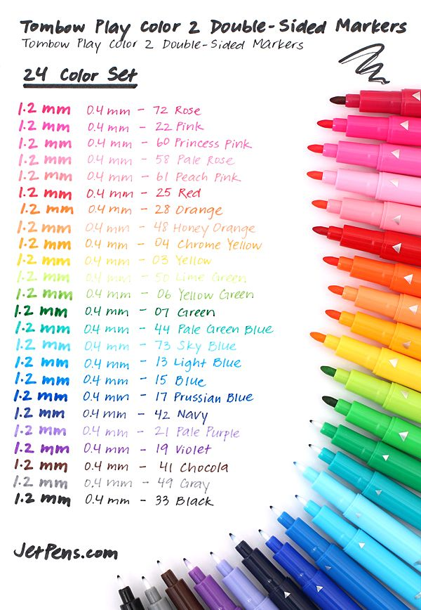 Tombow Play Color 2 Double Sided Marker 0 4 Mm 1 2 Mm