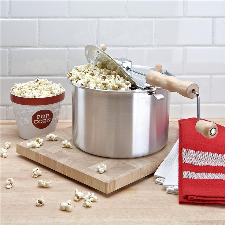 World famous - the Original Whirley PopTM Stovetop Popcorn Popper! Just add a little oil and heat on your stovetop for declicious popcorn in minutes.