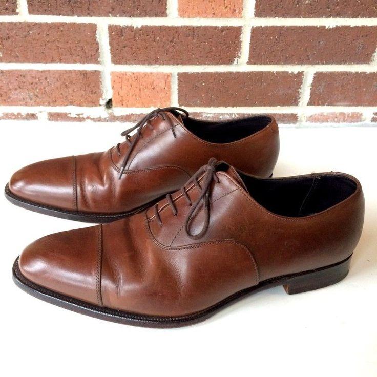SID MASHBURN Made in England Cap-toe Balmoral Brown Calfskin Shoes 11 $595 #SIDMASHBURN #WingTip #Formal