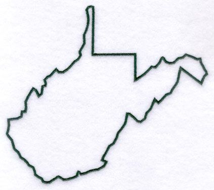 West Virginia Outline, you never know when ou might need one of these!