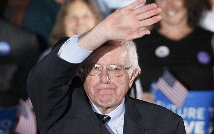 Senator Bernie Sanders Wins Democrats' Presidential Primary Vote in Maine