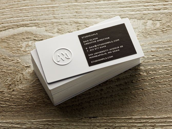 Studio MPLS Business Cards | #Business #Card #letterpress #creative #paper #businesscard #corporate #design #visitenkarte #corporatedesign < repinned by an #advertising agency from #Hamburg / #Germany - www.BlickeDeeler.de | Follow us on www.facebook.com/Blickedeeler
