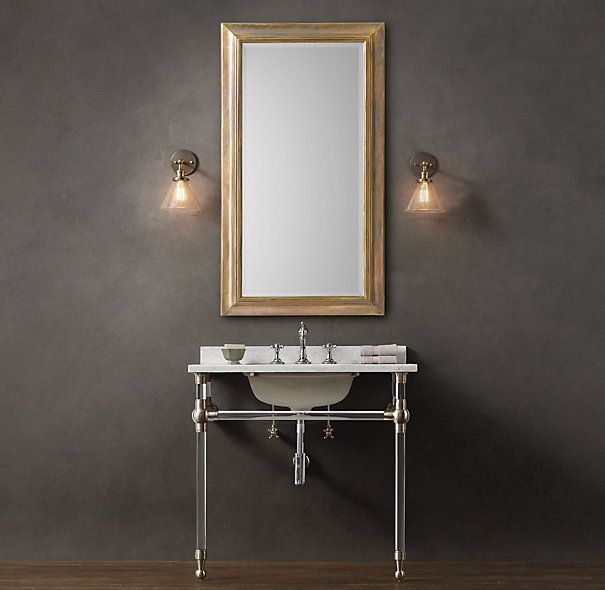 Gramercy Single Glass Washstand With Backsplash Not A Pedestal But Nice Vintage Look And Marble