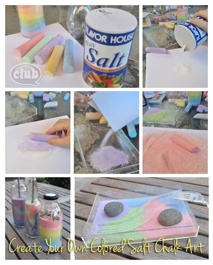 Make your own colored sand art, but with salt! So easy and fun. great weekend craft