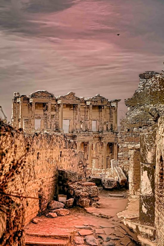 Ruins of Ephesus - Turkey. One of the great cities of the Greeks in Asia Minor