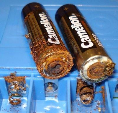 Oxidación de pilas