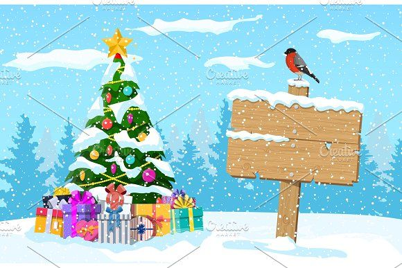 Christmas Winter Landscape In 2020 Christmas Landscape Winter Landscape Christmas