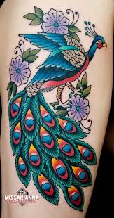 traditional peacock tattoo