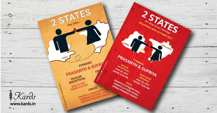 Sift through our terrific wedding Invitation designs to find one that tells your story and customize it to your heart's content. Here's a  book cover of Two States that can be customized to your liking :-)  #kards #doityourself #customize #twostates #invitation #wedding