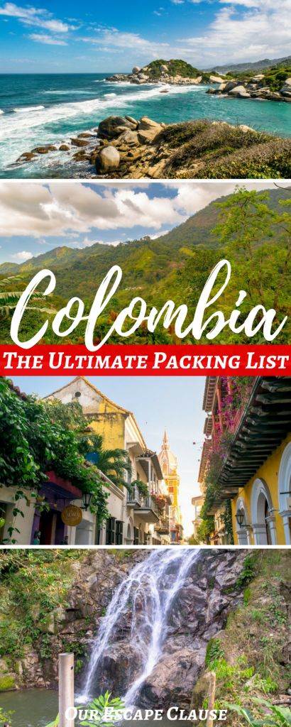 Wondering what to pack for Colombia? Check out this ultimate Colombia packing list: includes a male packing list for Colombia, a female packing list for Colombia, travel gear recommendations, and more!
