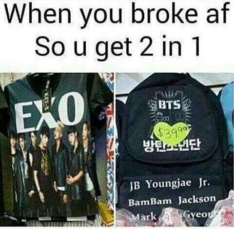 I can't tell if this is genius or saddening.... for now genius. #Got7 #BTS #EXO
