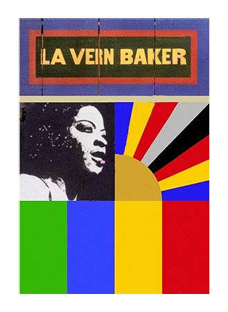 La Vern Baker (Signed Limited Edition Silkscreen of 175) by Peter Blake