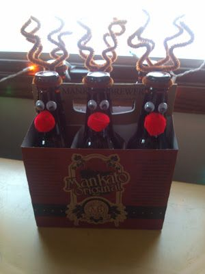 DIY Reinbeer Christmas Gift- would be cute for a secret santa gift!