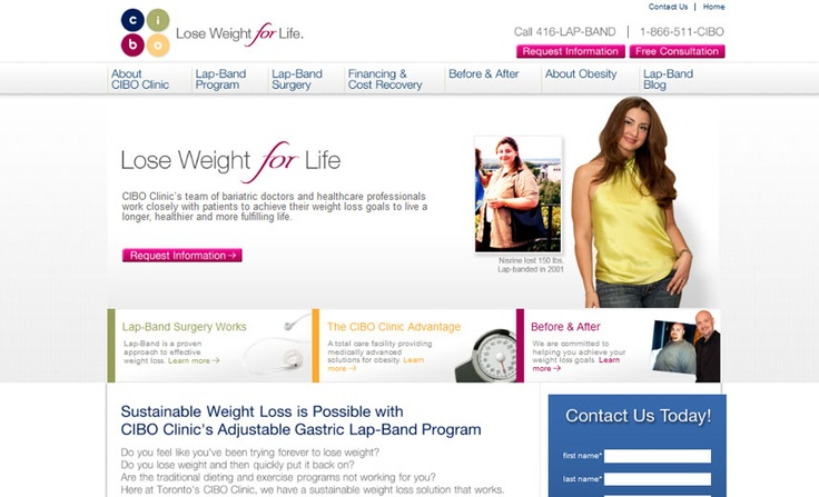 Canadian Institute of Bariatric Options, a provider of the lap-band weight-loss program.  ciboclinic.com