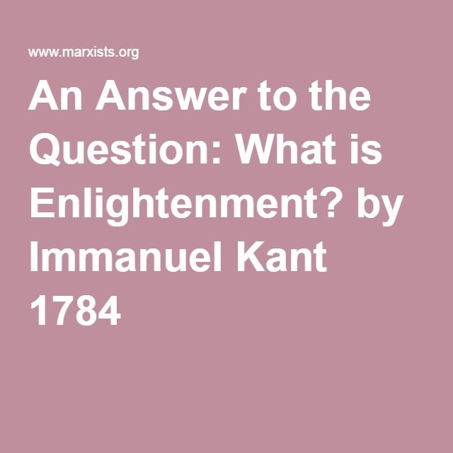 kant what is the enlightenment pdf