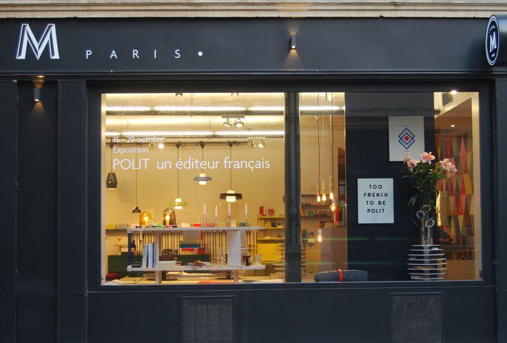 Vitrine Maison M Paris | Grand Club Sandowich, designer C. de Moulins | Ruche 9, designer A. de Pastre | Polit, 2013 | http://www.polit.fr/polit-un-éditeur-français.html | Exposition prolongée jusqu'au 4 novembre 2013.