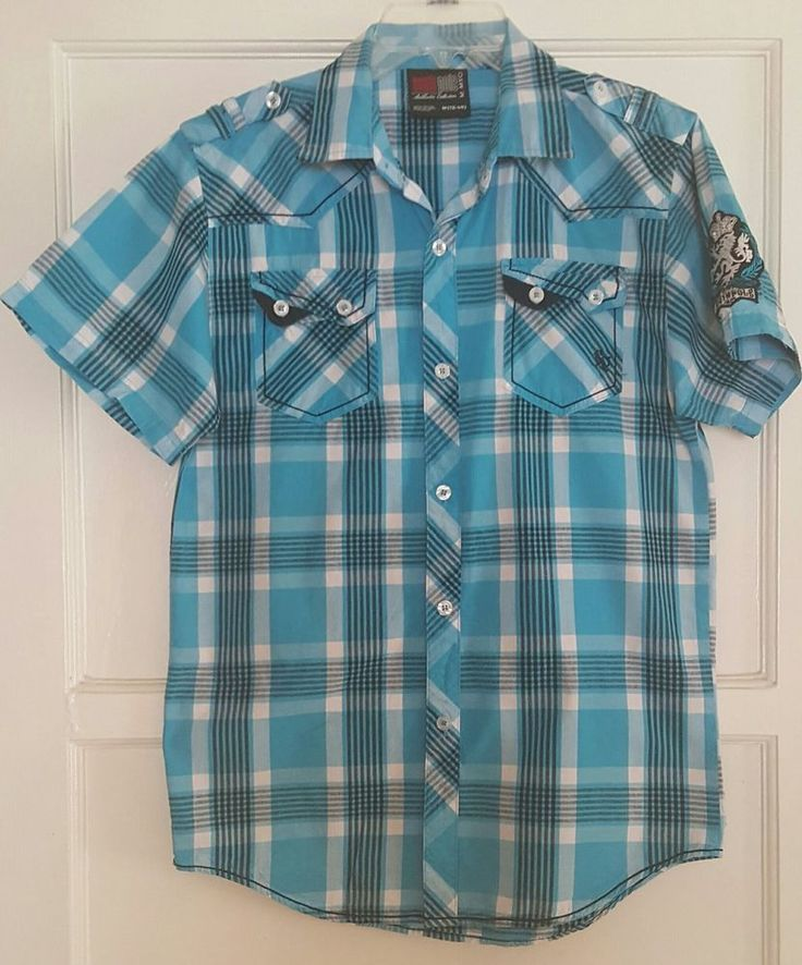 BOYS SOUTH POLE SHIRT BUTTON DOWN SHORT SLEEVES MULTI-COLOR SZ (12-14)  #Southpole #Everyday