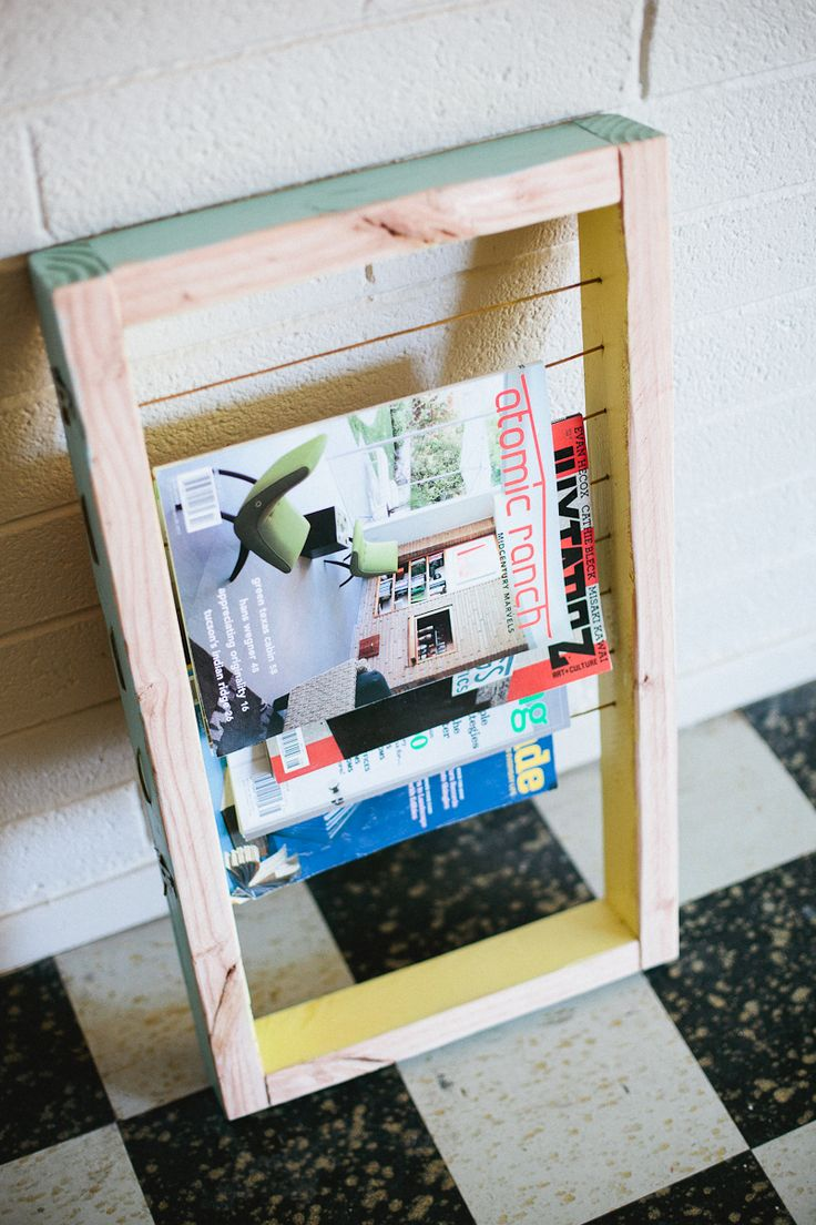 DIY: magazine rack
