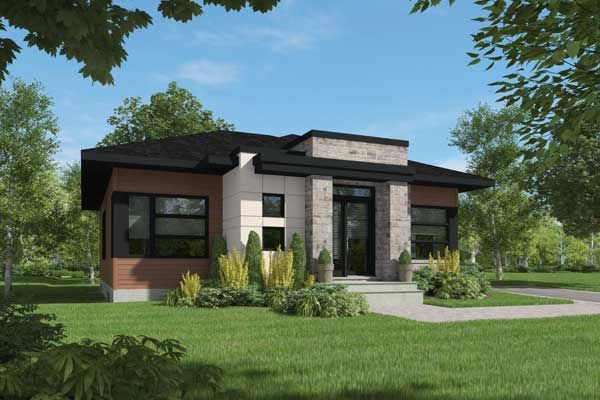 Modern Style Home Design Plan 5 1343 Small Home Pinterest