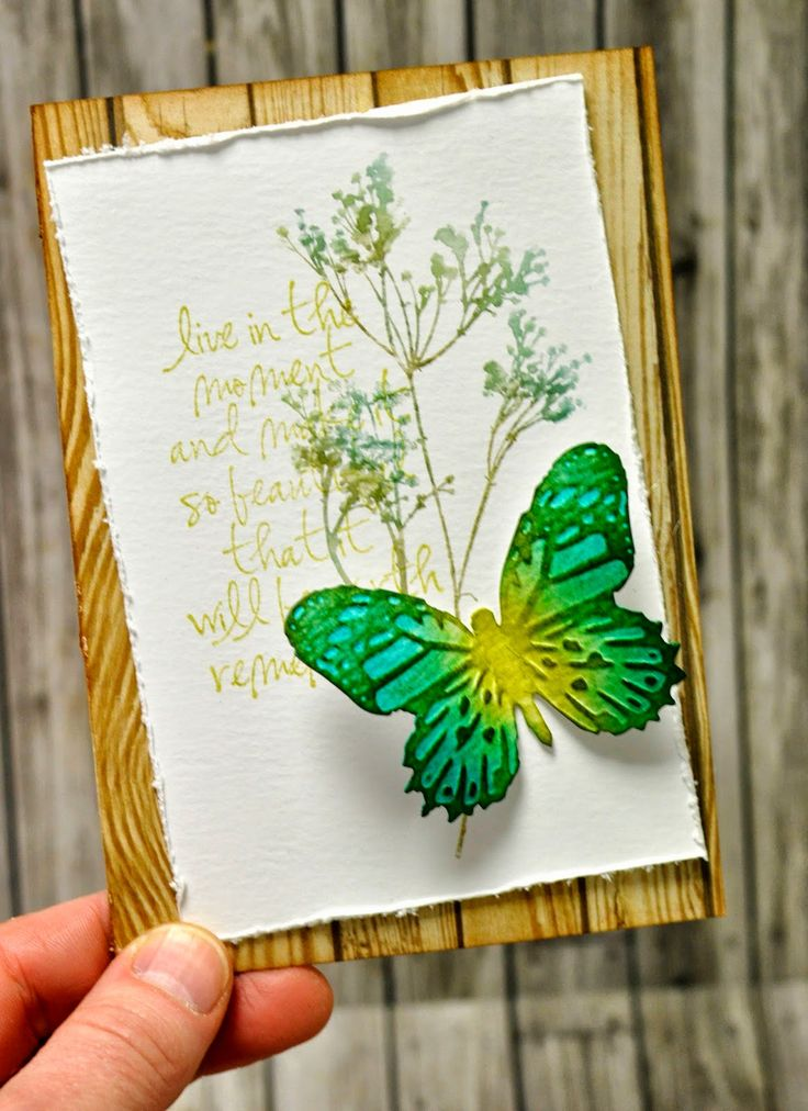 Sizzix Card Making Ideas Part - 33: Crafting Ideas From Sizzix UK: Going Green.