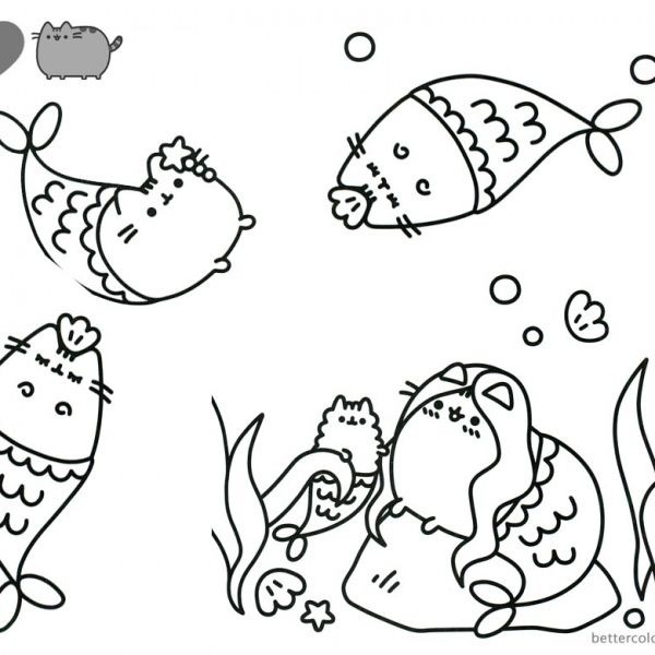 Pusheen Coloring Pages Cute Dinosaur Hat Free Printable Coloring Pages Pusheen Coloring Pages Easy Drawings Mermaid Drawings