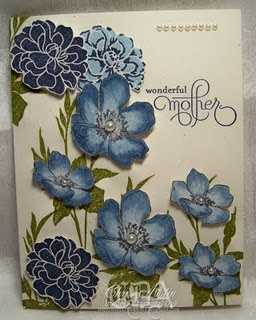 For mom  Gorgeous blue dimensional flowers & layout