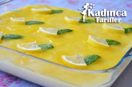 Limon Pelteli Bisküvili Muhallebi Tarifi