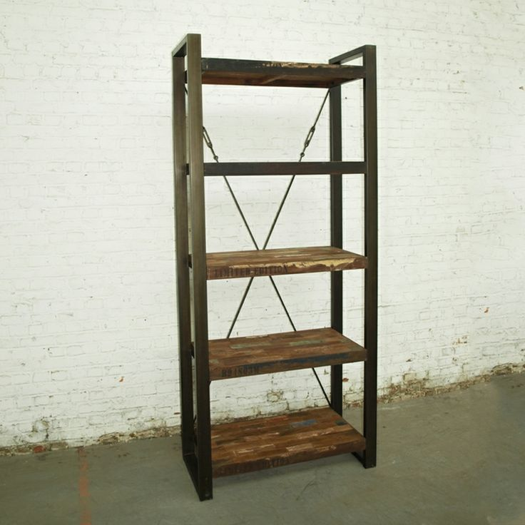 25 beste idee n over metalen boekenkast op pinterest zwarte schappen industri le rekken en - Boekenkast hout en ijzer ...