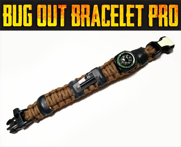 """USE CODE """"EQUIP2SURVIVE"""" TO GET A FREE KEVLAR SAW!! The best paracord survival bracelets that we have ever seen! It's a personal survival kit built into a survival bracelet! Design your own! Options include buckles with integrated LED lights, fire steels and handcuff keys! These are incredibly designed!!! Check them out for yourself!!"""