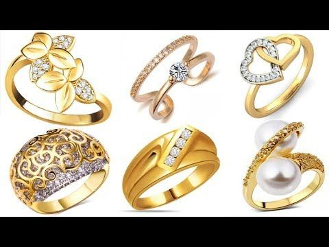 40 Latest Gold Rings Design for Engagement or Marriage Collection 2017