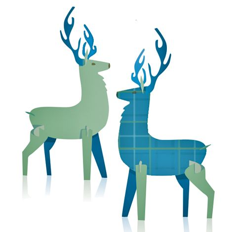 Two Scottish stags ready for a little bit of Burns Night fun on the 25th January! https://happythought.co.uk/party-fiesta/celebrate-burns-night-companion-guide