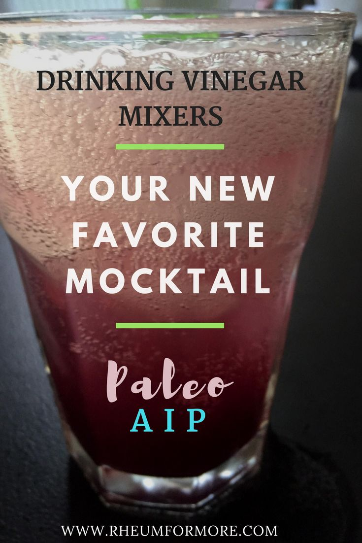 Improve gut health with a refreshing, Paleo, AIP, probiotic rich drinking vinegar mixer.