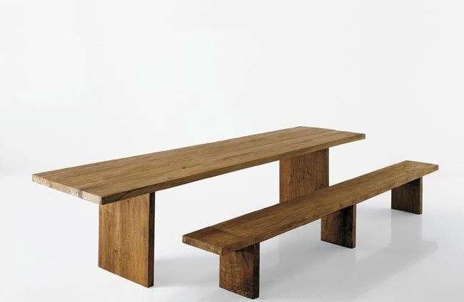 Table contemporaine en bois massif - CARPENTER - Tisettanta