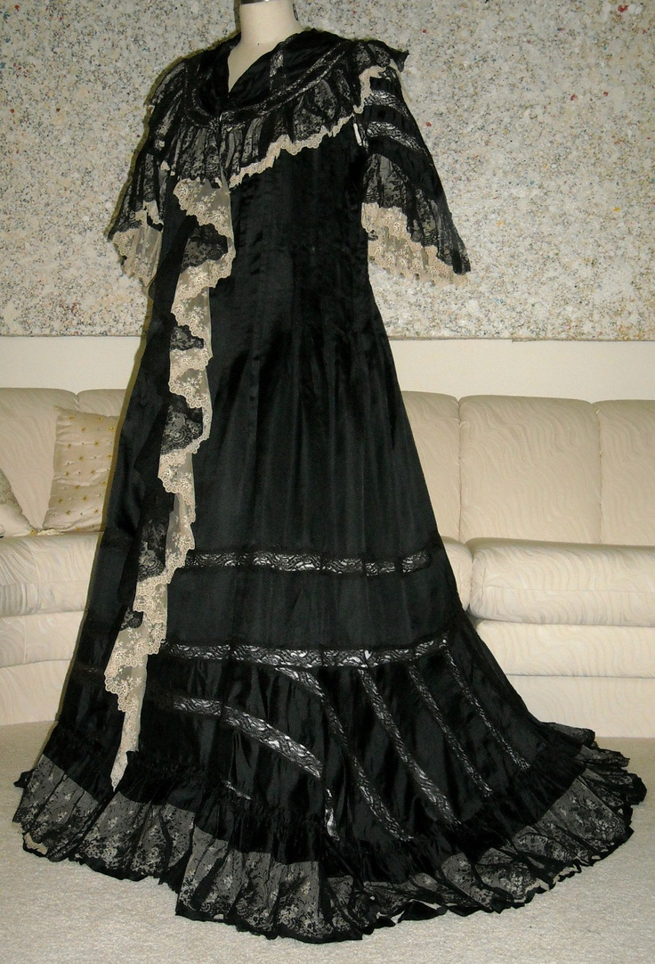 Extraordinary Victorian Silk Lace Lingerie Gown 1890s Morning Dressy Robe | eBay