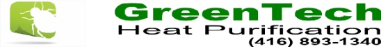 GreenTech bed bug heat treatment Toronto uses pure green heat for bed bugs extermination. One heat treatment kills all bed bugs and their eggs. Guaranteed bed bug removal in just one day.