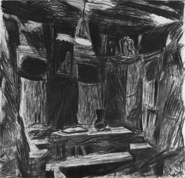 Илларион Владимирович Голицын (1928—2007гг). «Комната. Суханиха» (1971г).