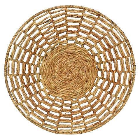 Woven Water Hyacinth Basket Wall Decor 30x30 Home