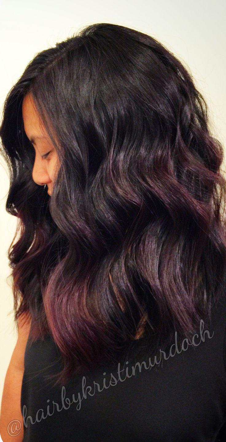 Merlot hair color - Red Violet Hair Red Violet Balayage Balayage Fall Balayage Color Red Balayage