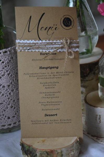 Weiteres - Menükarte Menü Hochzeit Vintage inkl. Druck - ein Designerstück von majalino bei DaWanda