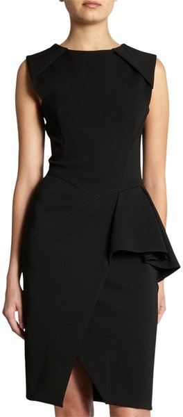 j-mendel-black-asymmetric-peplum-dress