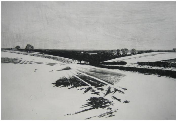 Snow on the Wolds - Melvyn Petterson