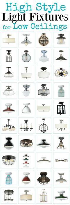 High style semi flush ceiling lights for standard height ceilings