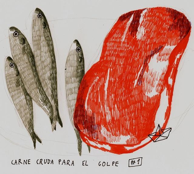 'Carne Cruda Para El Golpe' by María Melero